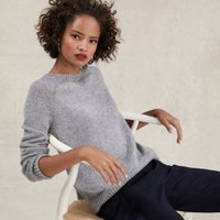Sparkle Jumper with Alpaca , Mid Grey Marl, 8