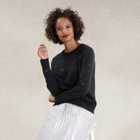 Sparkle Spot Jumper , Dark Charcoal Marl, 18
