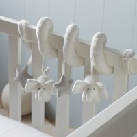 Spiral Indy Cot Toy, White Grey, One Size