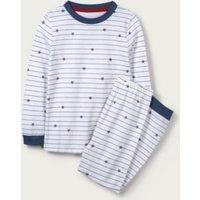 Star & Stripe Pyjamas (1-12yrs), White Blue, 1 1/2-2yrs