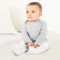 Star Embroidered Mock Top Sleepsuit, White, 0-3mths