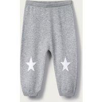 Star Knitted Leggings, Grey, 0-3mths