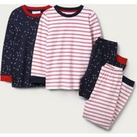 Stars & Stripe Pyjamas - Set of 2 (1-12yrs), Multi, 5-6yrs