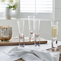 Stemless Champagne Flutes – Set of 4, Clear, One Size