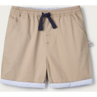 Stone Cotton-Lined Shorts (1-6yrs), Stone, 5-6yrs