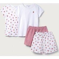 Strawberry Print Pyjamas - Set of 2 (1-12yrs), White/Pink, 1 1/2-2yrs