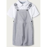 Stripe Dungarees & Polo Set (1-6yrs), Stripe, 1-1 1/2yrs