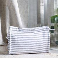 Stripe Fabric Wash Bag , Multi, One Size