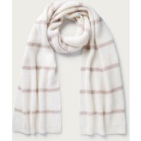 Stripe Lurex Scarf , Pink, One Size