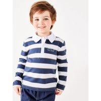 Stripe Rugby Shirt (1-6yrs), Navy/White, 2-3yrs