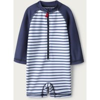 Stripe Surfsuit, Navy/White, 12-18mths