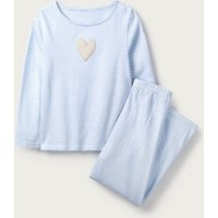 Striped Heart Pyjamas (1-12yrs), Blue, 3-4yrs