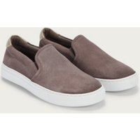 Suede Slip on Trainers, Grey, 41
