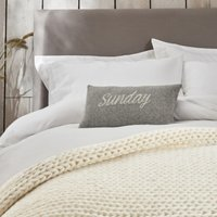 Sunday Cushion Cover, Grey, Small Rectangle