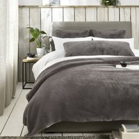 Super-Soft Faux Fur Cushion Cover, Truffle, Bench