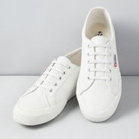 Superga Leather Plimsolls, White, 38