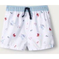 Swim Shorts, White, 12-18mths