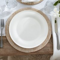 Symons Bone China Dinner Plate, White, One Size