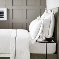 Symons Cord Duvet Cover, White/Black, Super King