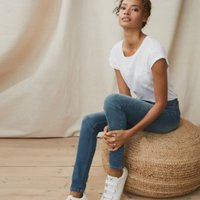 Symons Skinny Jeans - 30 Length, Mid Wash, 6