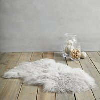 Tibetan Sheepskin Rug, Grey, One Size