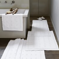 Toulon Bath Mat, White, Medium