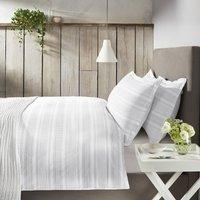 Trenton Duvet Cover & Pillowcase Set, White Grey, Single