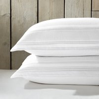 Trenton Oxford Pillowcase with Border - Set of 2, White Grey, Super King