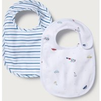 Transport Print & Stripe Bibs - Set of 2