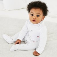 Transport Print Collared Sleepsuit