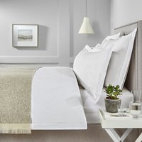 Savoy Stripe Duvet Cover, White, Single