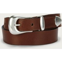 Tan Leather Western Belt, Tan, M