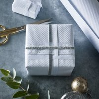 Textured Piqué Wrapping Paper – 5m, White, One Size