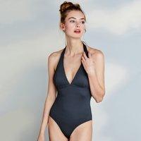 Textured Pom-Pom Swimsuit , Navy, 16