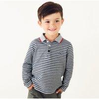 Tractor Stripe Polo Shirt (1-6yrs), Grey, 3-4yrs