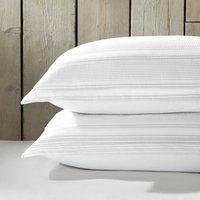 Trenton Oxford Pillowcase with Border - Set of 2, White Grey, Super King