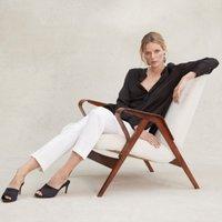 Tuxedo Trousers , Ivory, 6