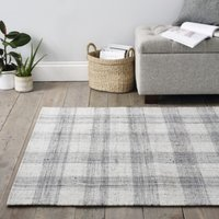 Tyneham Check Rug, Grey, One Size
