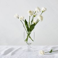 Dome Footed Vase, Clear, One Size