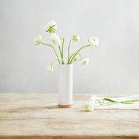 Stoneware Small Vase, White, One Size