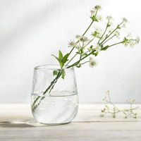 Textured Glass Vase, Clear, One Size