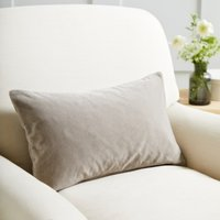 Scatter Cushion Velvet, Stone Velvet, Medium Square