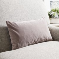 Scatter Cushion Velvet, Silver Grey Velvet, Medium Square