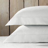 Essentials Egyptian Cotton Oxford Pillowcase with Border - Single, Silver, Super King