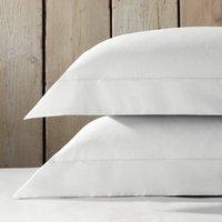 Essentials Egyptian Cotton Oxford Pillowcase with Border - Single, Silver, Standard