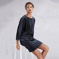 Velvet Sparkle Batwing Dress, Midnight, 4