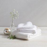 Lightweight Waffle Hook Towels, White, Hand Towel