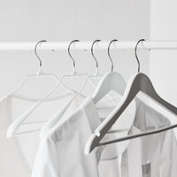 Knitwear Wide End Hangers – Set of 6, White, One Size