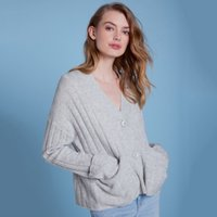 Wool Rich Turnback Cuff Cardigan