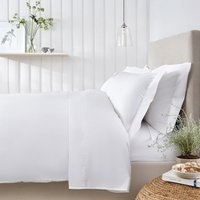 Egyptian Cotton Duvet Cover, White, Single